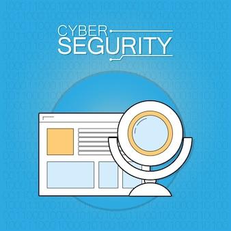 Cyberbeveiligingsbrowser met webcam