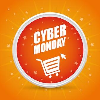 Cybermaandag-e-commerceontwerp