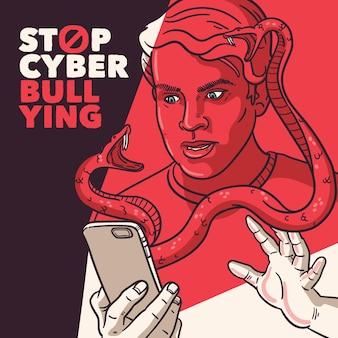 Cyberpesten concept