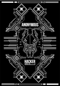 Cyberpunk futuristische poster. retro futuristische poster sjabloon. tech abstracte poster sjabloon.