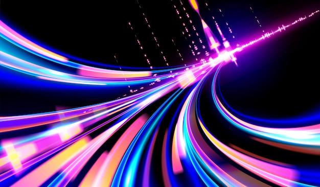 Cyberpunk light trails-achtergrond