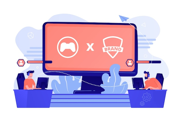 Cybersport-competitie. merkspelers die spelen