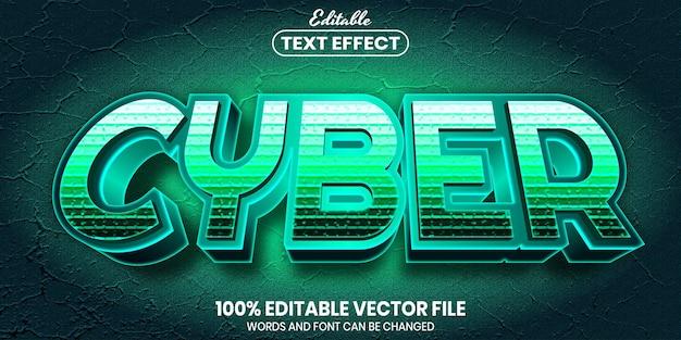 Cybertekst, bewerkbaar teksteffect in lettertypestijl