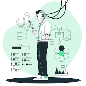 Cyborg concept illustratie