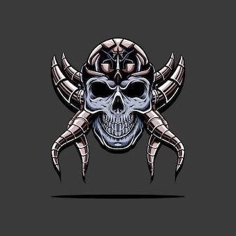 Cyborg schedel illustratie
