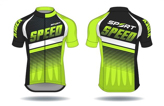 Cyclus jersey.sport slijtage bescherming apparatuur vectorillustratie.
