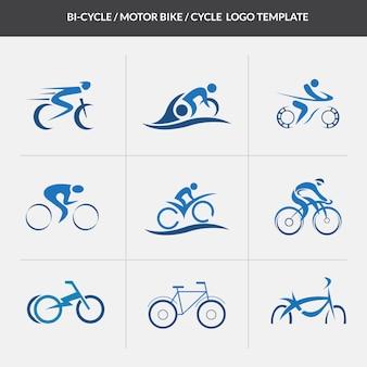 Cyclus motorcycle logo sjabloon
