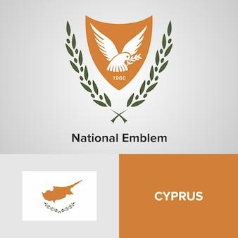 Cyprus nationaal embleem en vlag