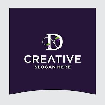 D druif logo ontwerp
