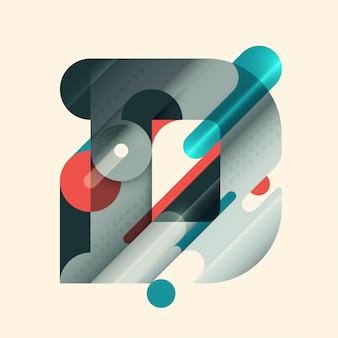 D letter ontwerp