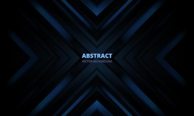 D moderne donkerblauwe futuristische abstracte achtergrond met pijlen en hoeken