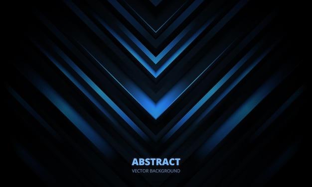 D moderne donkerblauwe futuristische abstracte geometrische achtergrond