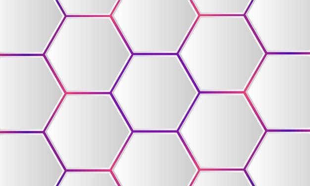 D witte zeshoekige technologie gekleurde abstracte achtergrond