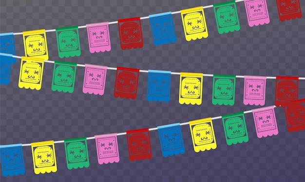Da de los muertos mexicaanse feestdag dag van de doden vectorillustratie mexicaans feestelijk