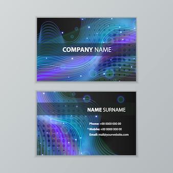 Dabstract ontwerpsjabloon voor donkere moderne visitekaartjes Premium Vector