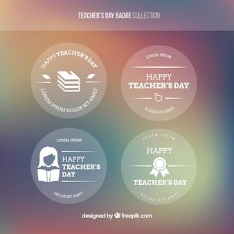 Dag diverse decoratieve leraar stickers