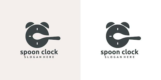 Dag en nacht eten tijd logo ontwerp