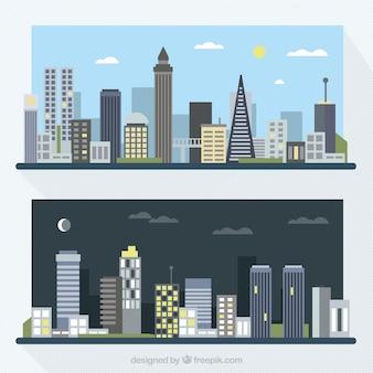 Dag en nacht in de stad