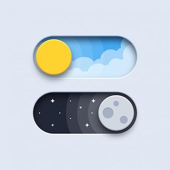 Dag en nacht schakelknoppen