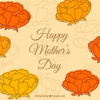 Dag gratis bloemen template moeder