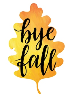 Dag herfst hand belettering inspiratie motiverende en inspirerende positieve citaat kalligrafie herfst