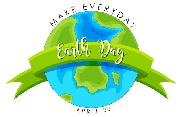 Dag van de aarde concept