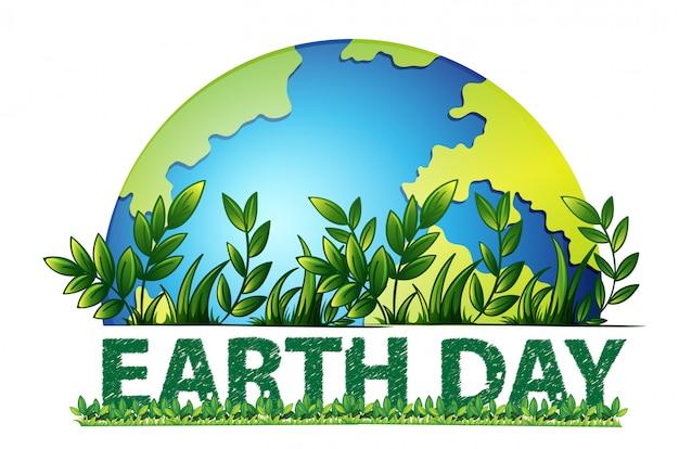 Dag van de aarde groene achtergrond