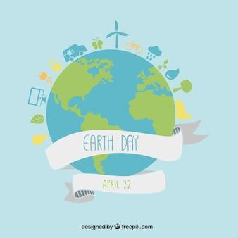 Dag van de aarde illustratie