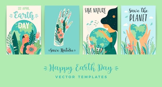 Dag van de aarde. red de natuur.