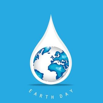 Dag van de aarde regendruppel