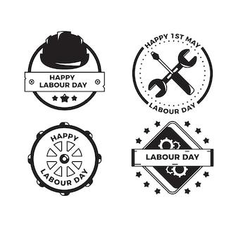 Dag van de arbeid badge collectie