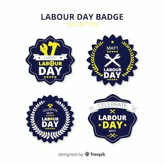 Dag van de arbeid badge-collectie