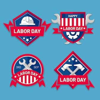 Dag van de arbeid badge set
