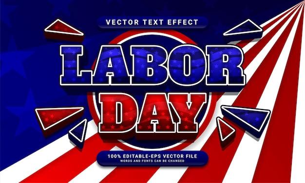 Dag van de arbeid bewerkbare tekststijl effect thema viering van de dag van de arbeid