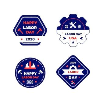 Dag van de arbeid label collectie