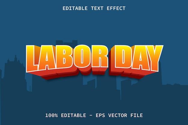 Dag van de arbeid met bewerkbaar teksteffect in moderne stijl