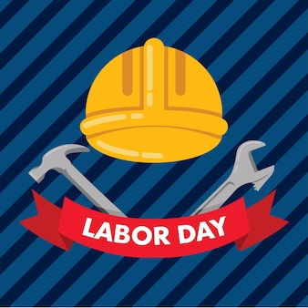 Dag van de arbeid met bouw achtergrond