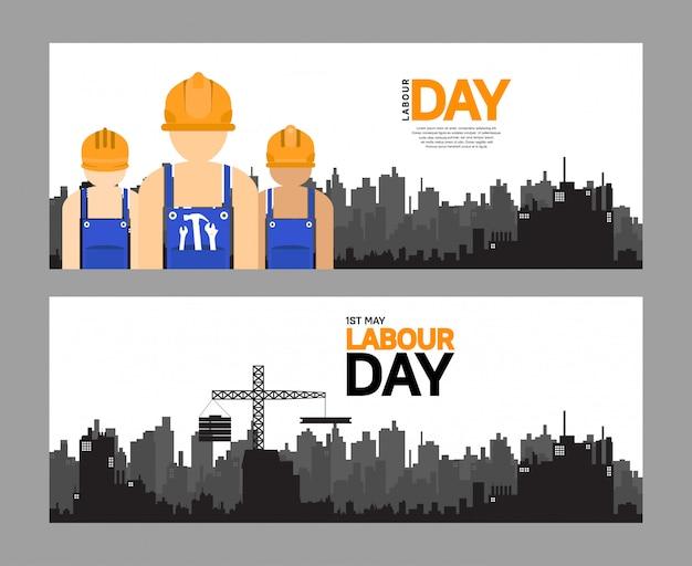 Dag van de arbeid vector ontwerp poster
