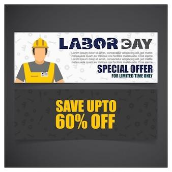Dag van de arbeid verkoop banner set