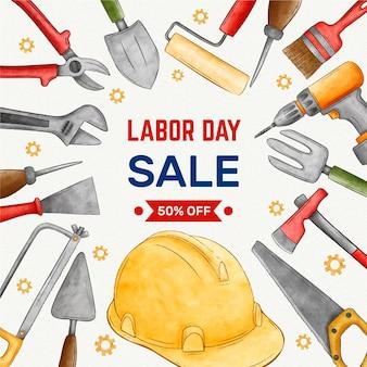 Dag van de arbeid verkoop concept
