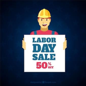Dag van de arbeid verkoop samenstelling met platte ontwerp