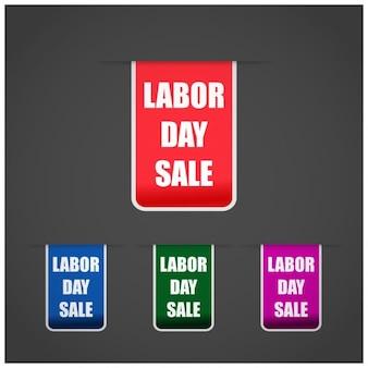 Dag van de arbeid verkoop tags