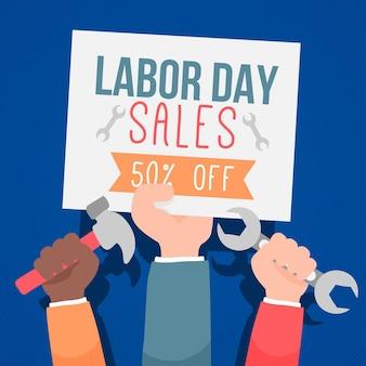 Dag van de arbeid verkoopsjabloon