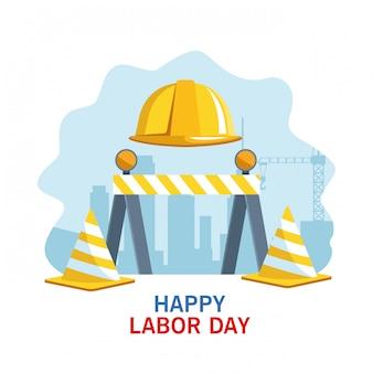 Dag van de arbeid vs viering cartoon