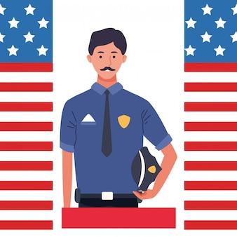 Dag van de arbeid werkgelegenheid viering cartoon