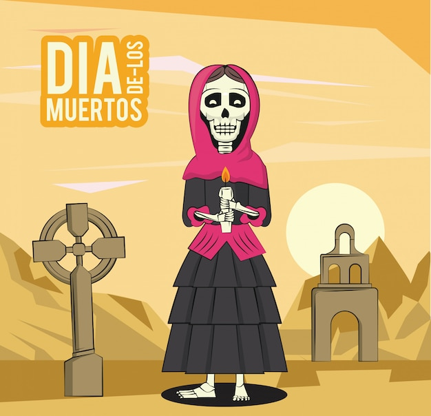 Dag van de dode kaart