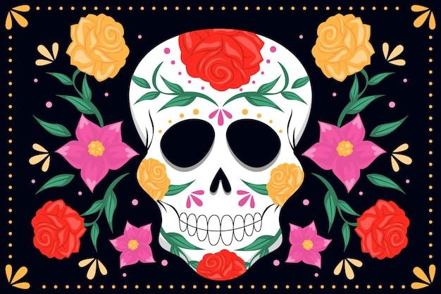 Dag van de dode schedelachtergrond