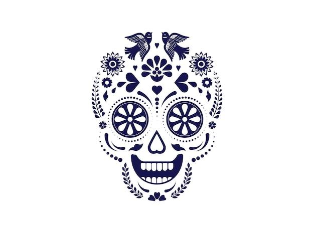 Dag van de doden dia de los muertos illustratie