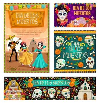 Dag van de doden in mexico, dia de los muertos vakantie
