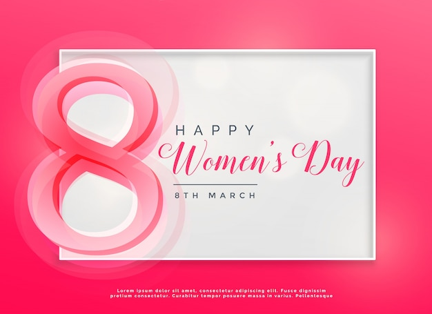 Dag van de gelukkige vrouwendag 8 maart viering